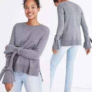 Madewell scoop neck pullover sweater XXS grey